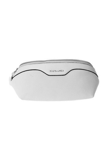 Silver Polo Bel Çantası Beyaz